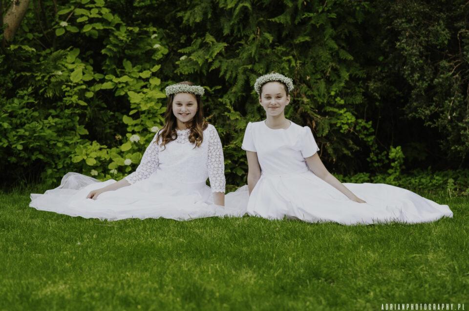 Julia i Łucja Pierwsza Komunia Święta